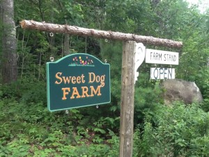 Sweet dog Farm sign